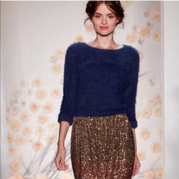 f8c2c2ca7f4a2 LC Lauren Conrad Sweaters - Lauren Conrad Fuzzy Navy Blue Cropped Sweater